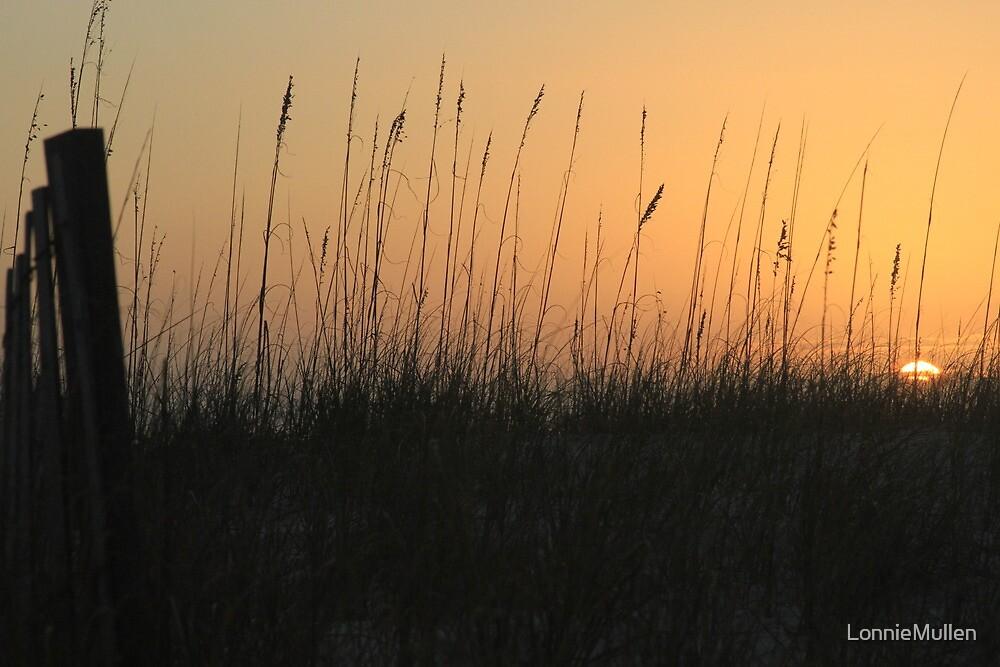 Perdido Key Sunset Fence by LonnieMullen