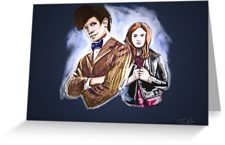 Doctor & Pond by johnwatsonian
