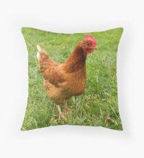 RHODE ISLAND RED Throw Pillow