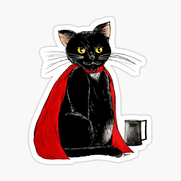 Karadoc the cat Sticker