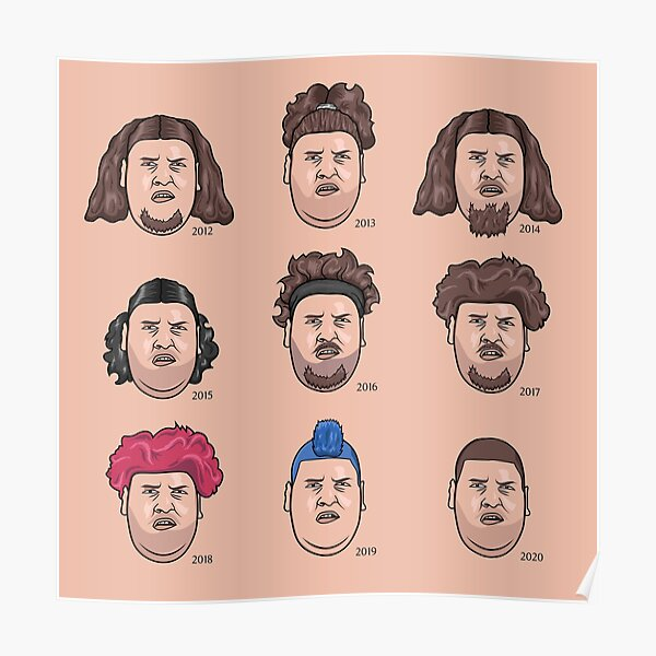 The 9 faces of Rainer Drachenlord Winkler Poster