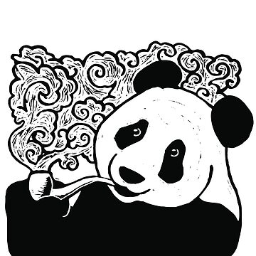 Pipe Smoking Panda by CuccuCollective