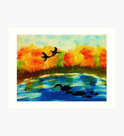 The Bird invasion, watercolor Art Print