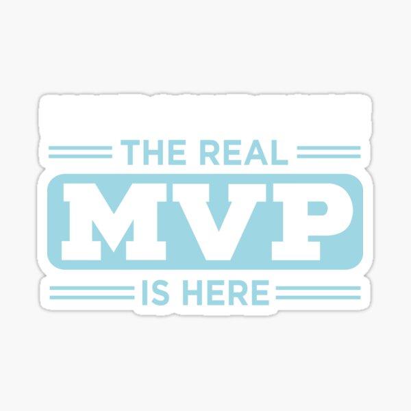 MVP design for Men Sticker