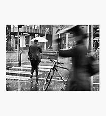 Collins St, Winter Photographic Print