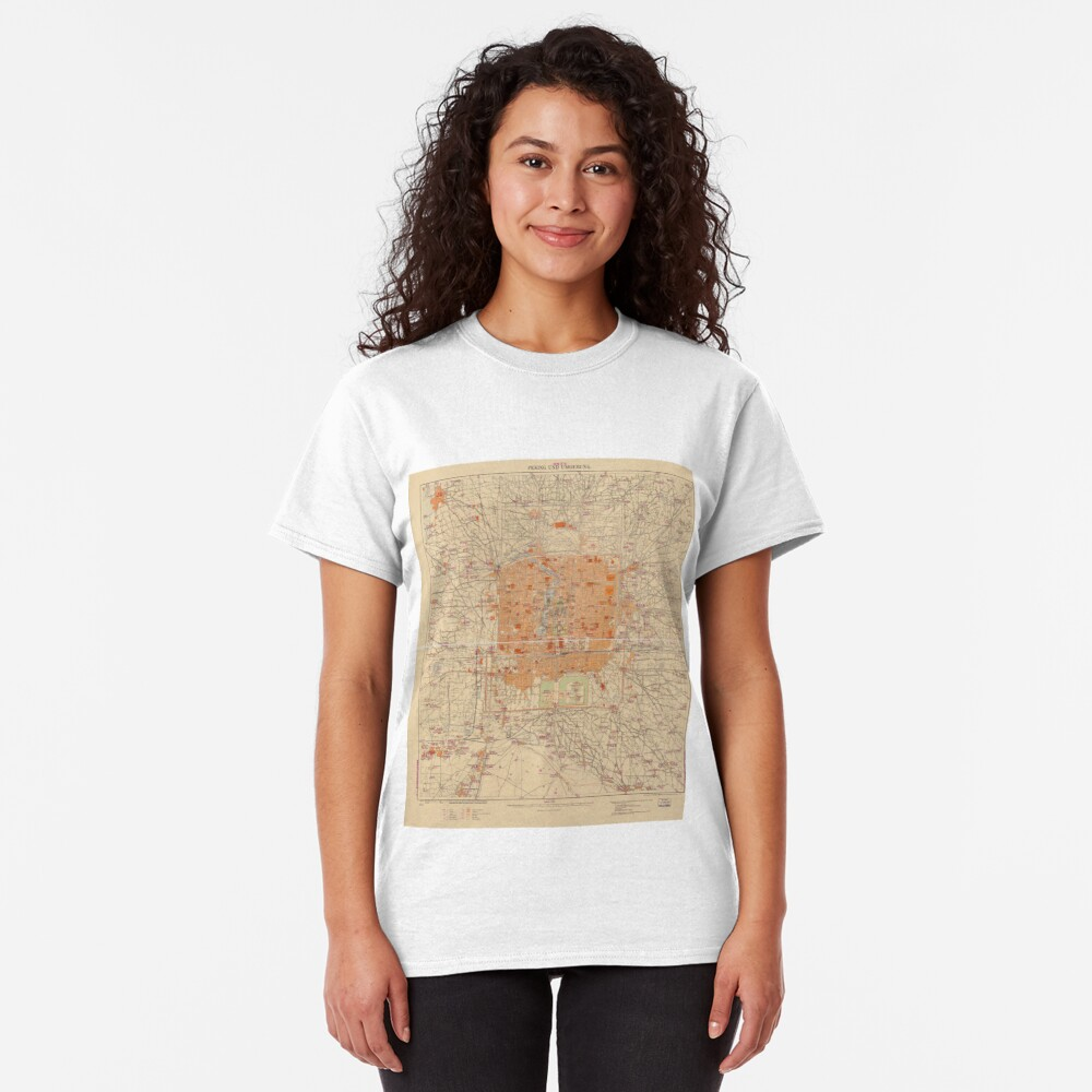 Vintage Map of Beijing China (1907) Classic T-Shirt