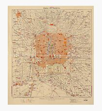 Vintage Map of Beijing China (1907) Photographic Print