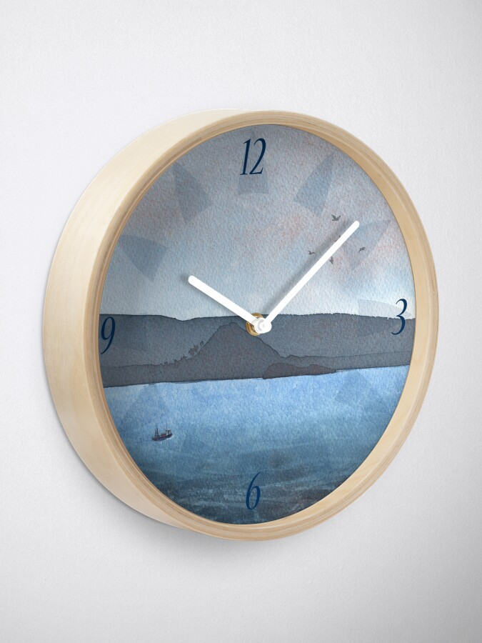 Alternate view of Berwick Law and Craig Leith, November 2018 Clock