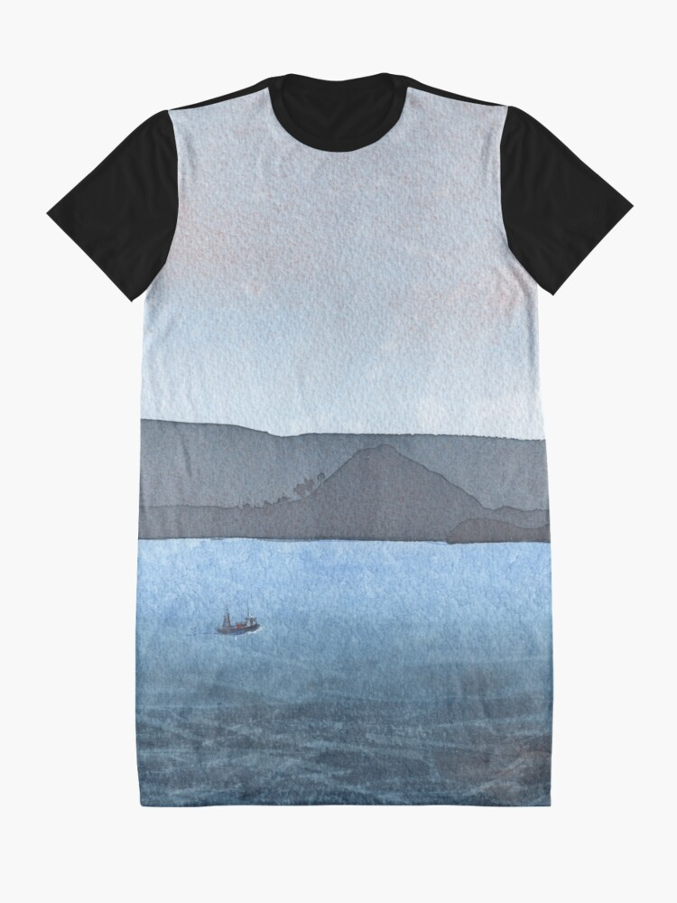 Alternate view of Berwick Law and Craig Leith, November 2018 Graphic T-Shirt Dress