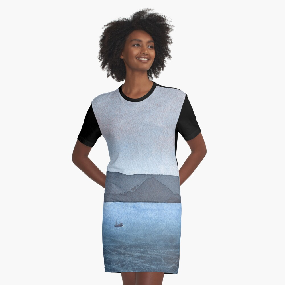 Berwick Law and Craig Leith, November 2018 Graphic T-Shirt Dress