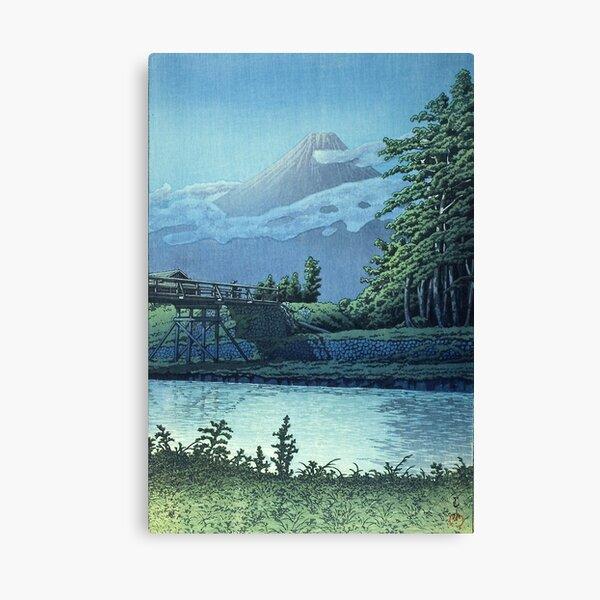 Late Autumn in Lake Yamanaka - Kawase Hasui Canvas Print