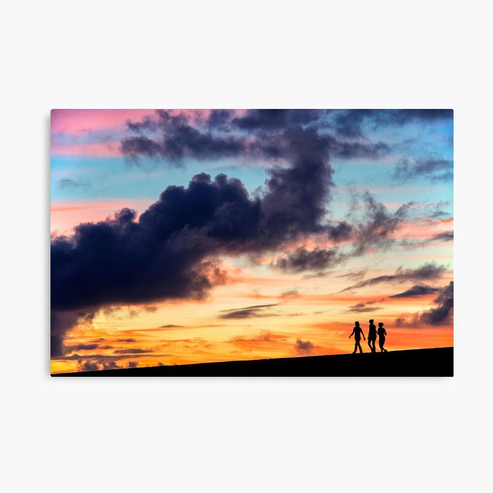 Dusk Sunset Silhouette Drawstring bag