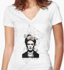 Frida- One of a kind Women's Fitted V-Neck T-Shirt