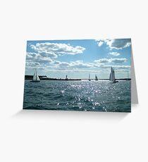 Sails in the Narragansett Bay to the Atlantic Ocean Greeting Card