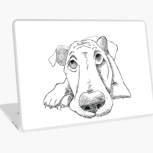 Comic Hound Dog Laptop Skin