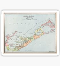 Vintage Map of Bermuda (1901) Sticker