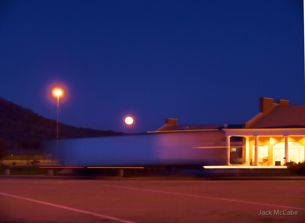 Full Moon Over a Kentucky Truck Stop *featured by Jack McCabe