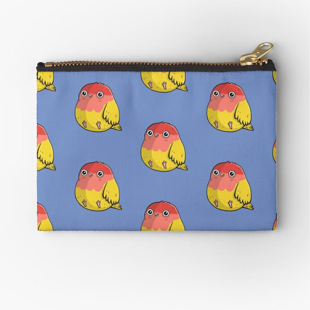 Cute Lutino Lovebird Chubby Bird Design Zipper Pouch