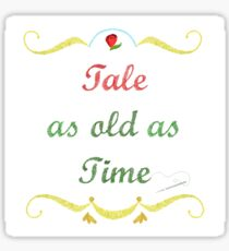 Tale as Old as Time Needlepoint Sticker