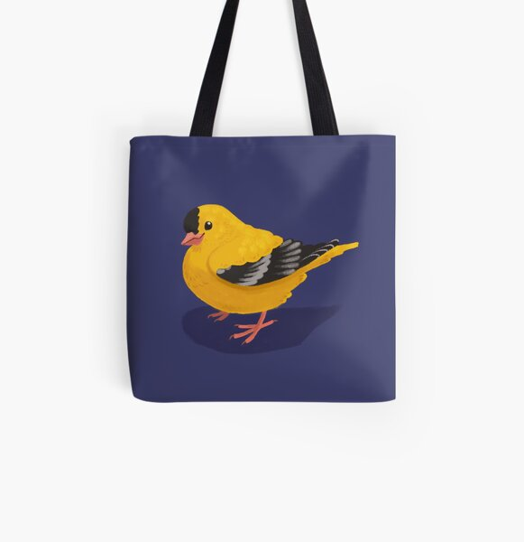 Happy Goldfinchy All Over Print Tote Bag