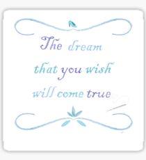 A Dream is a Wish Needlepoint Sticker