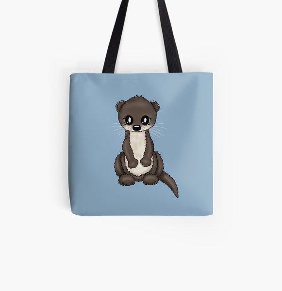 Otter Allover-Print Tote Bag