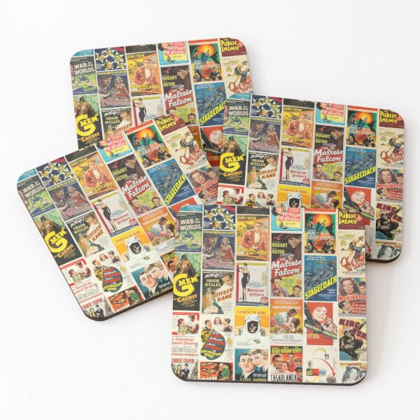Classic Movie Poster Collage Coasters (Set of 4)