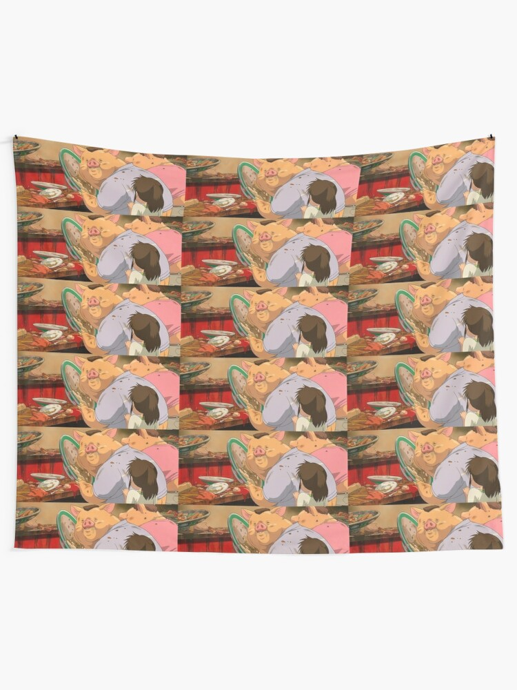 Spirited Away Pig Parents Tapestry By Debracornell97 Redbubble
