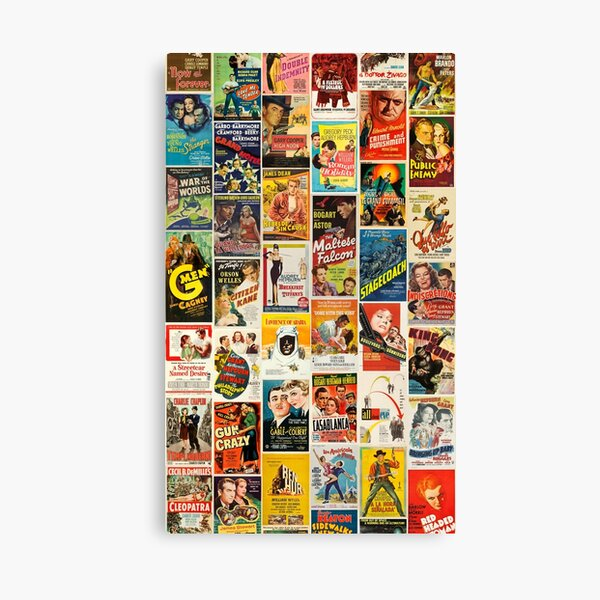 Classic Movie Poster Collage Canvas Print