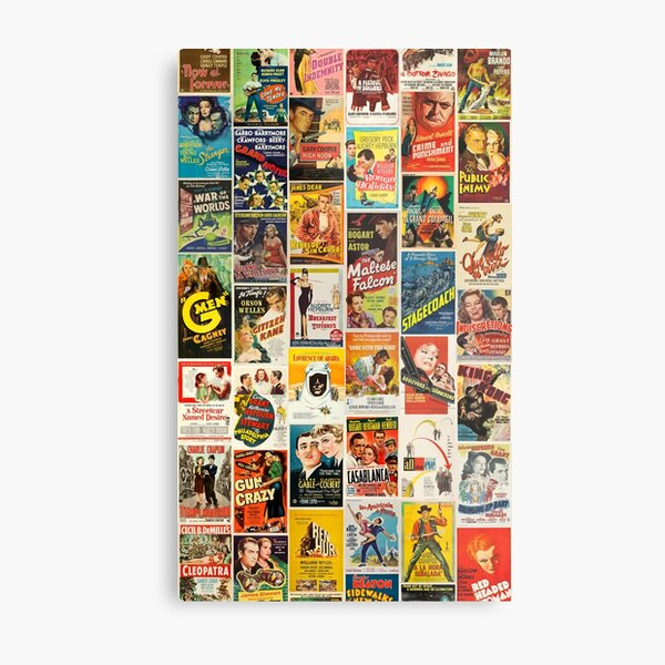 Classic Movie Poster Collage Metal Print