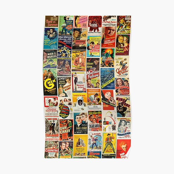 Classic Movie Poster Collage Poster