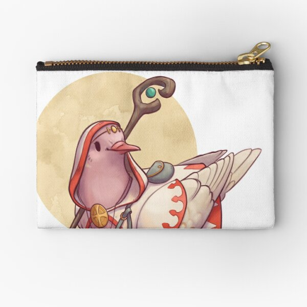 Dungeons and Pigeons - White Mage Zipper Pouch