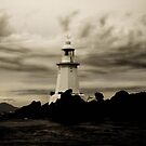 Hells Gate Lighthouse, Tasmania by Karen Stackpole