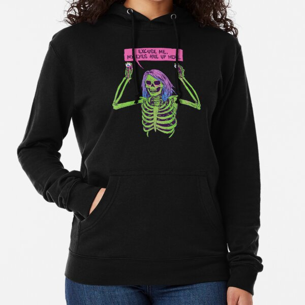 My Eyes Are Up Here Lightweight Hoodie