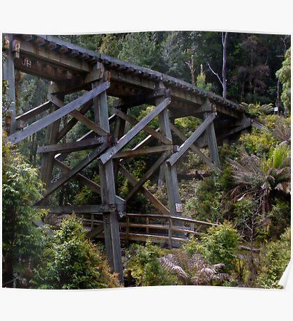 Rail Bridge, Tasmania Poster