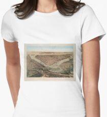 Camiseta entallada para mujer Vintage Pictorial Map of NYC and Brooklyn (1859)