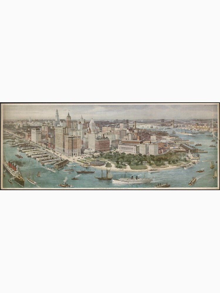 Vintage Pictorial Map of New York City (1914) de BravuraMedia