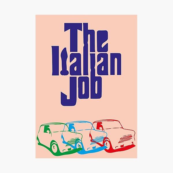 The Italian Job minimal print Photographic Print
