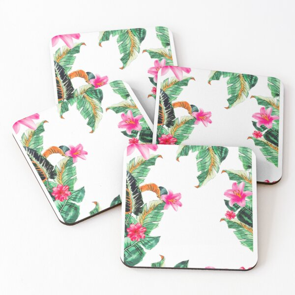 Tropical paradise Coasters (Set of 4)