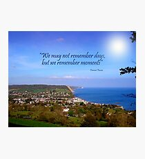 Overview of Sidmouth Photographic Print