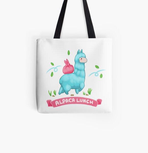 Alpaca Tote Handbag Llama Drama Cartoon Farm Animals Casual Stylish Purse Bag