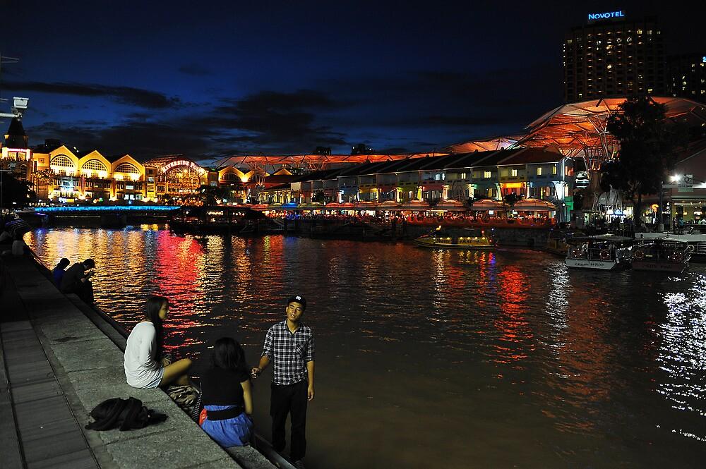 Clarke Quay, Singapore. by Ralph de Zilva