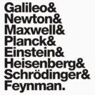 The Physicists List (dark type) by Kip Stewart