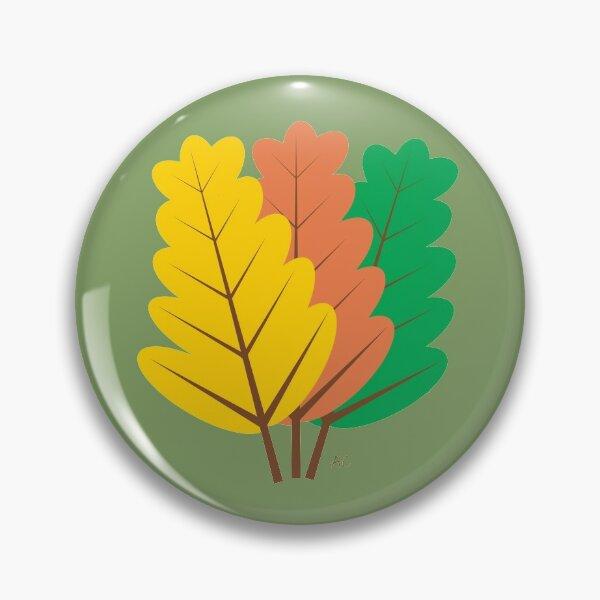 Autumn : Three Fallen Leaves Pin