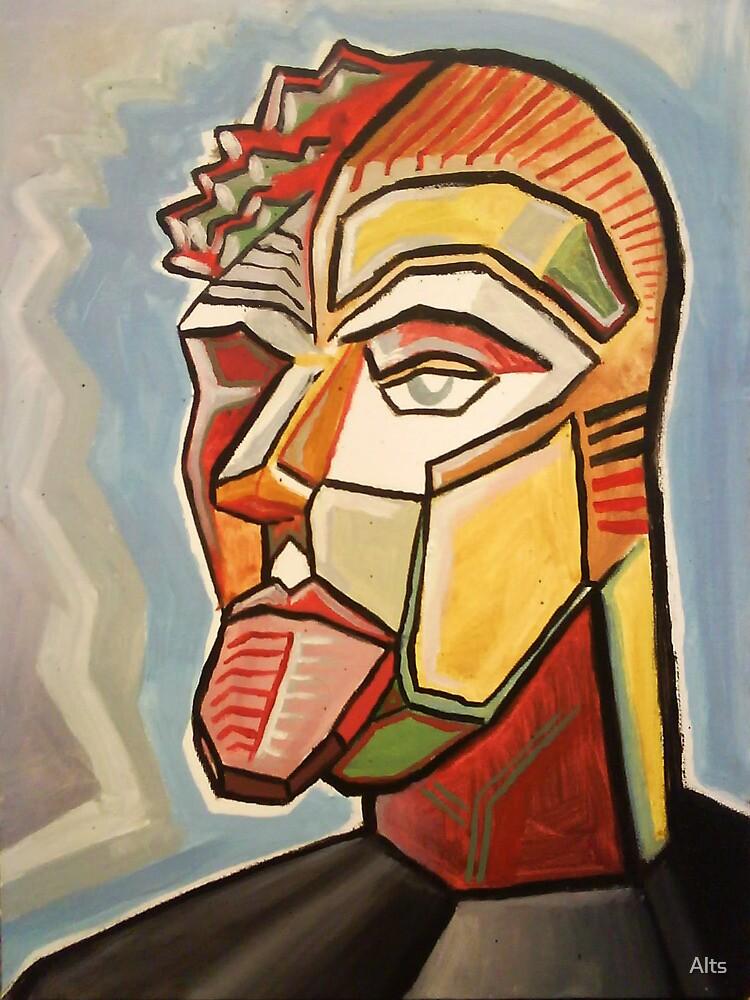 Futuristic Autoportrait by Alts