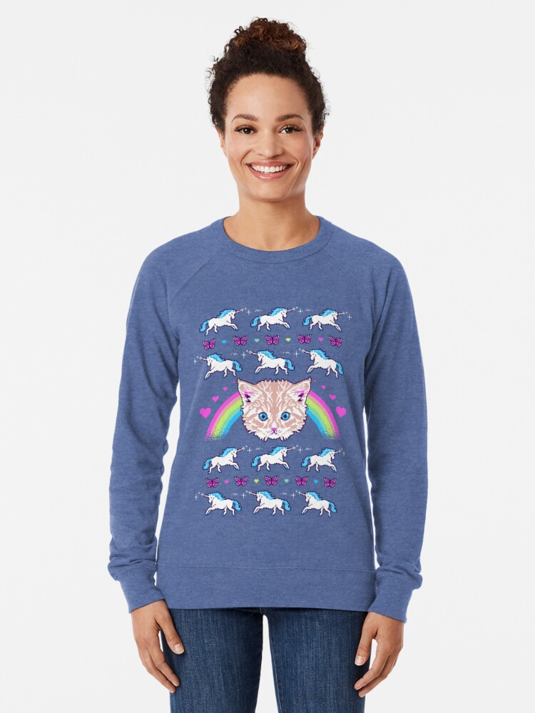 Alternate view of Most Meowgical Sweater Lightweight Sweatshirt