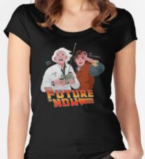 The Future is Now...That's Heavy Women's Fitted Scoop T-Shirt
