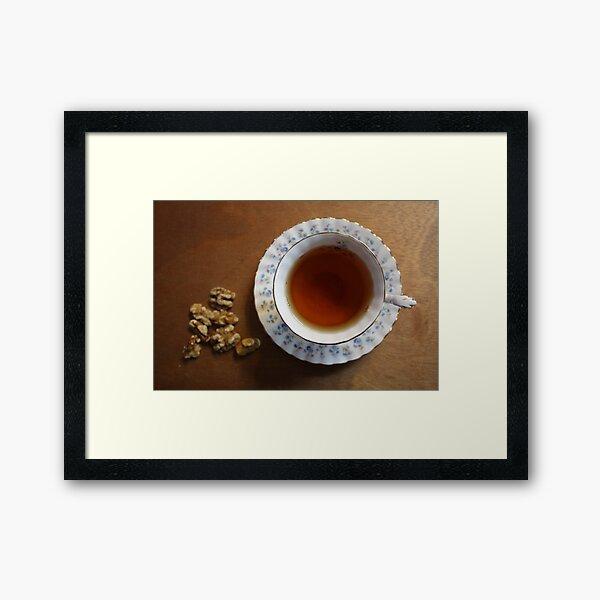 Tea time and snacks Framed Art Print