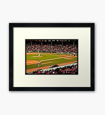 Red Sox game Framed Print
