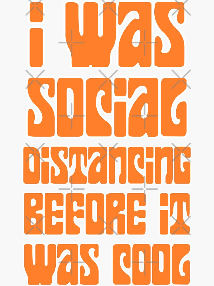 Social DIstancing Before It Was Cool Vintage by Sutra-Lotus-Co